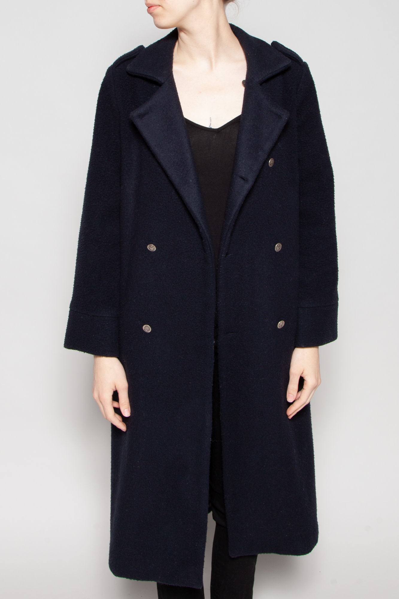 The Animal Observatory BLUE  WORN-EFFECT COAT MADE OF WOOL