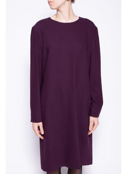 Holt Renfrew PURPLE WOOL DRESS - NEW WITH TAGS