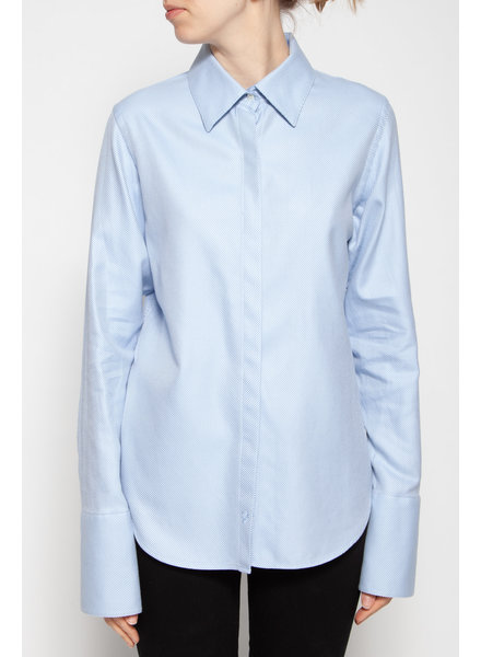 Pink Tartan WHITE AND BLUE SHIRT