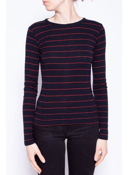 Vince RED AND BLUE STRIPED TOP