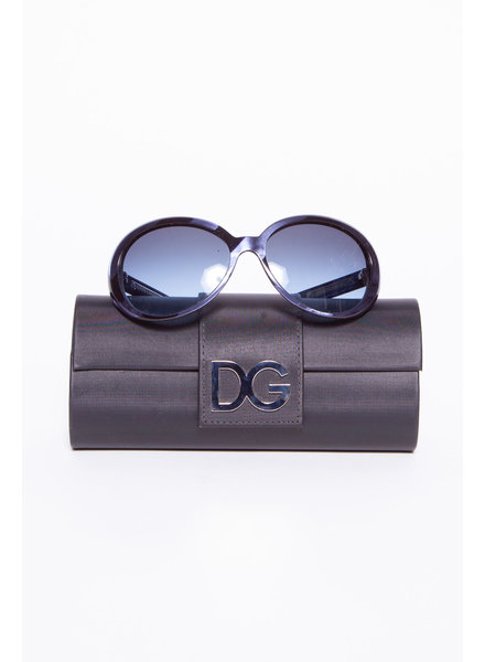 Dolce & Gabbana BLUE PEARL-EFFECT SUNGLASSES
