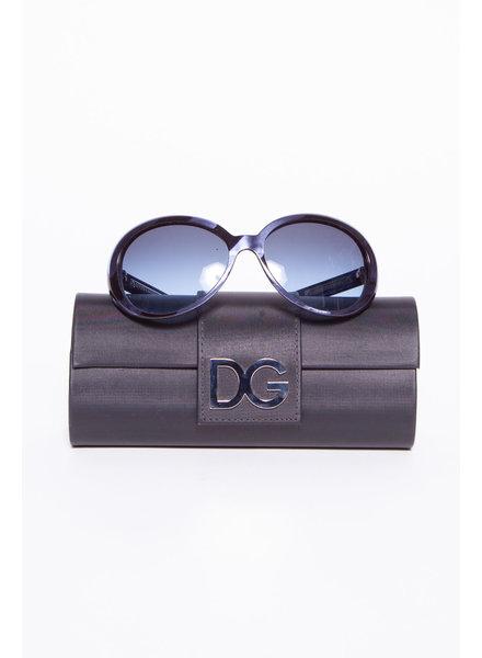 Dolce & Gabbana LUNETTES DE SOLEIL BLEUES EFFET NACRÉ