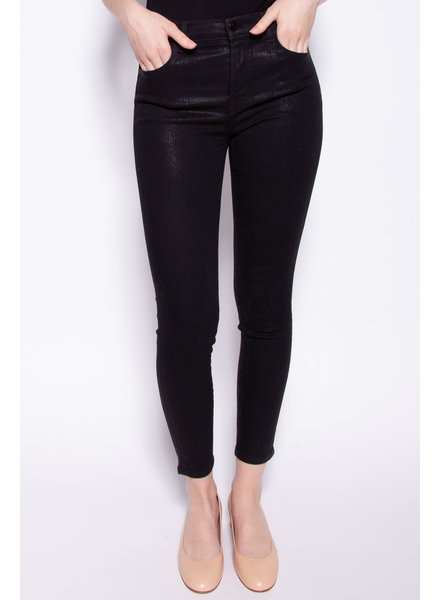 J Brand BLACK SHINY HIGH RISE JEANS
