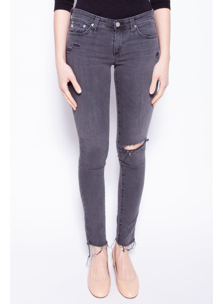AG Jeans CHARCOAL GREY WEAR EFFECT JEANS