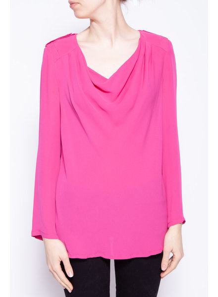 Tory Burch BLOUSE FUSCHIA EN SOIE