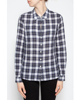 Standard James Perse WHITE AND BLUE PLAID SHIRT