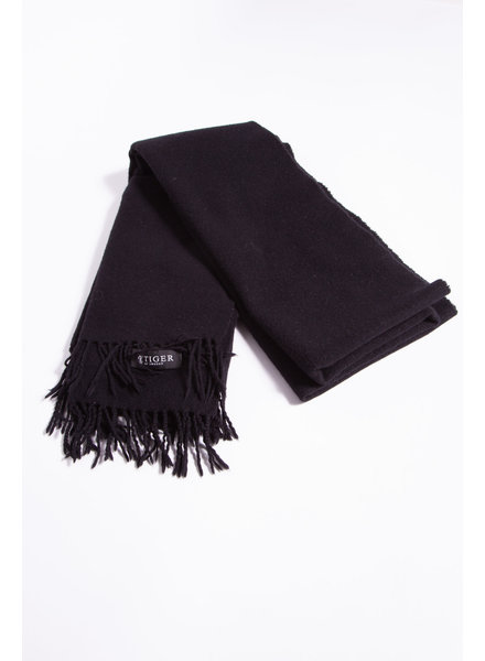 Tiger of Sweden BLACK LARGE WOOL SCARF