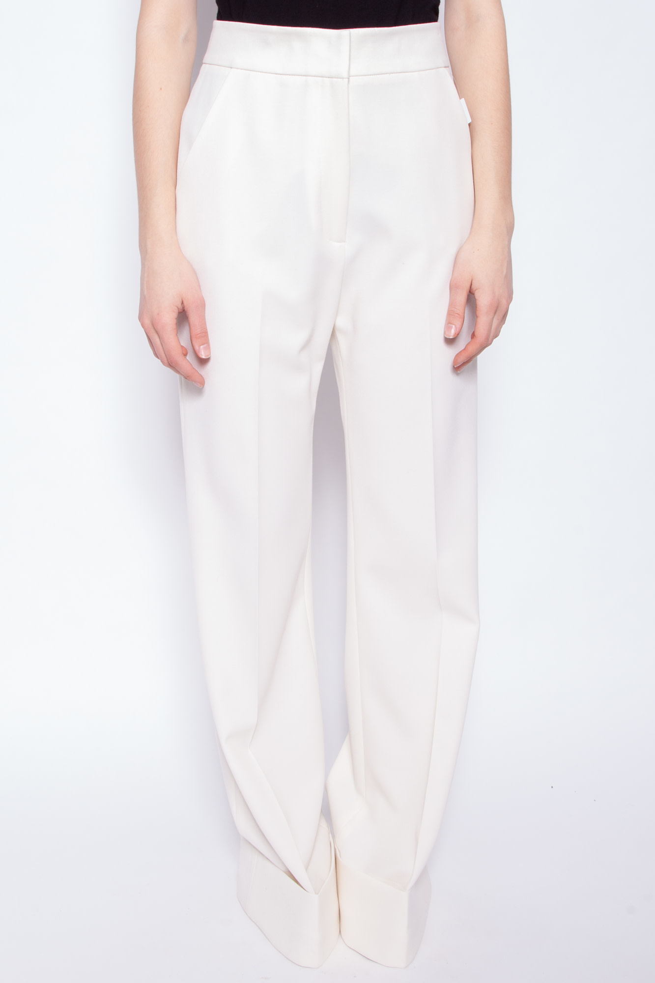 Smythe OFF-WHITE WIDE LEGS TROUSERS - NEW WITH TAGS