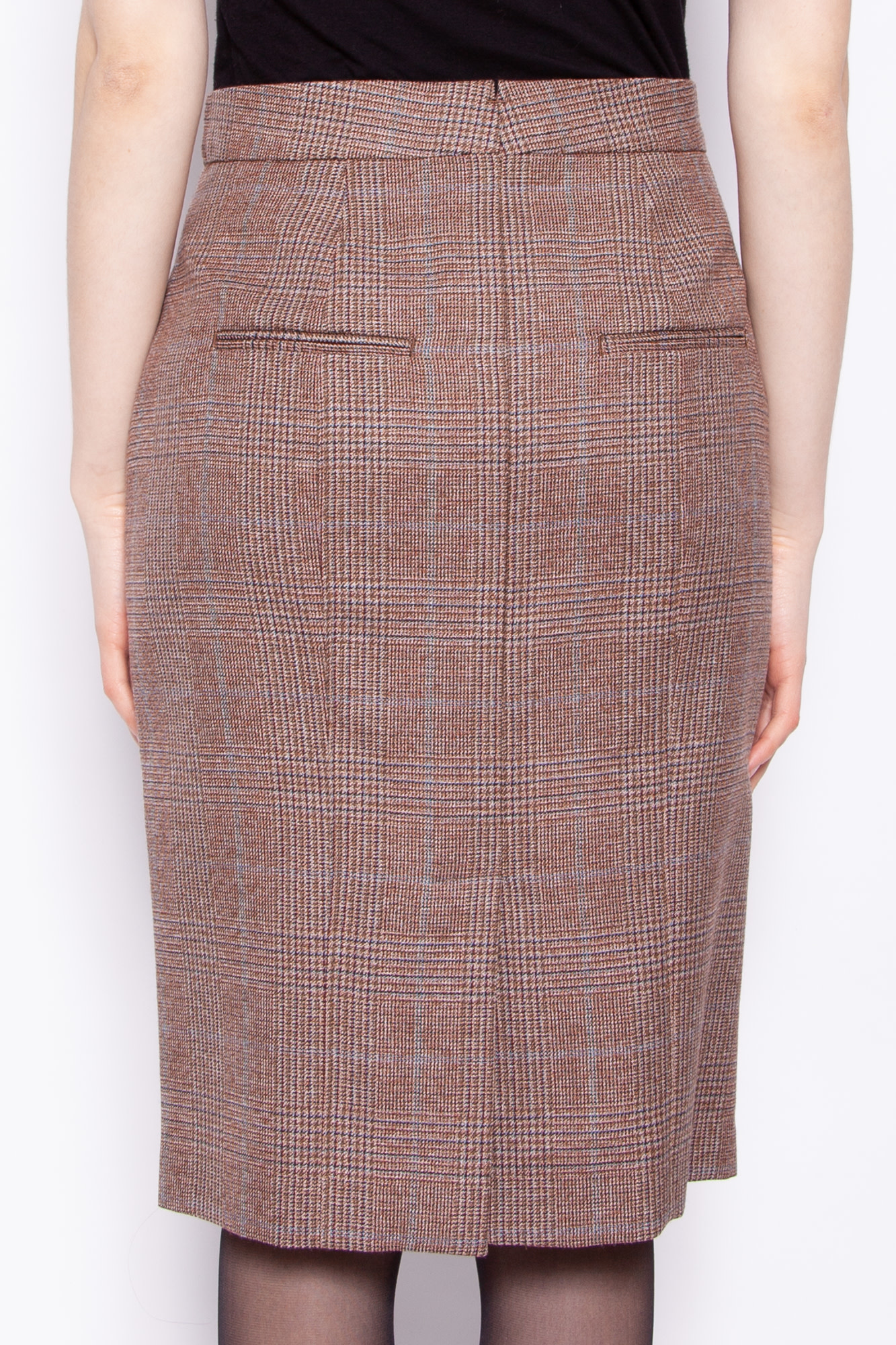 Landscape PRINCE OF WALES CHECK WOOL SKIRT - NEW WITH TAGS