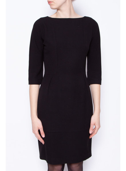 Tara Jarmon BLACK SCOOP BACK DRESS