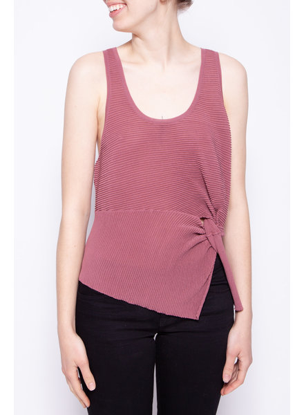 Michelle Mason PINK RIBBED TOP - NEW WITH TAGS