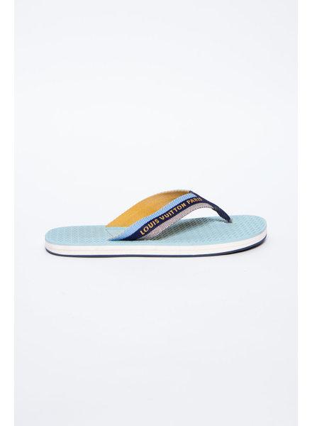 Louis Vuitton BLUE FLIP FLOPS