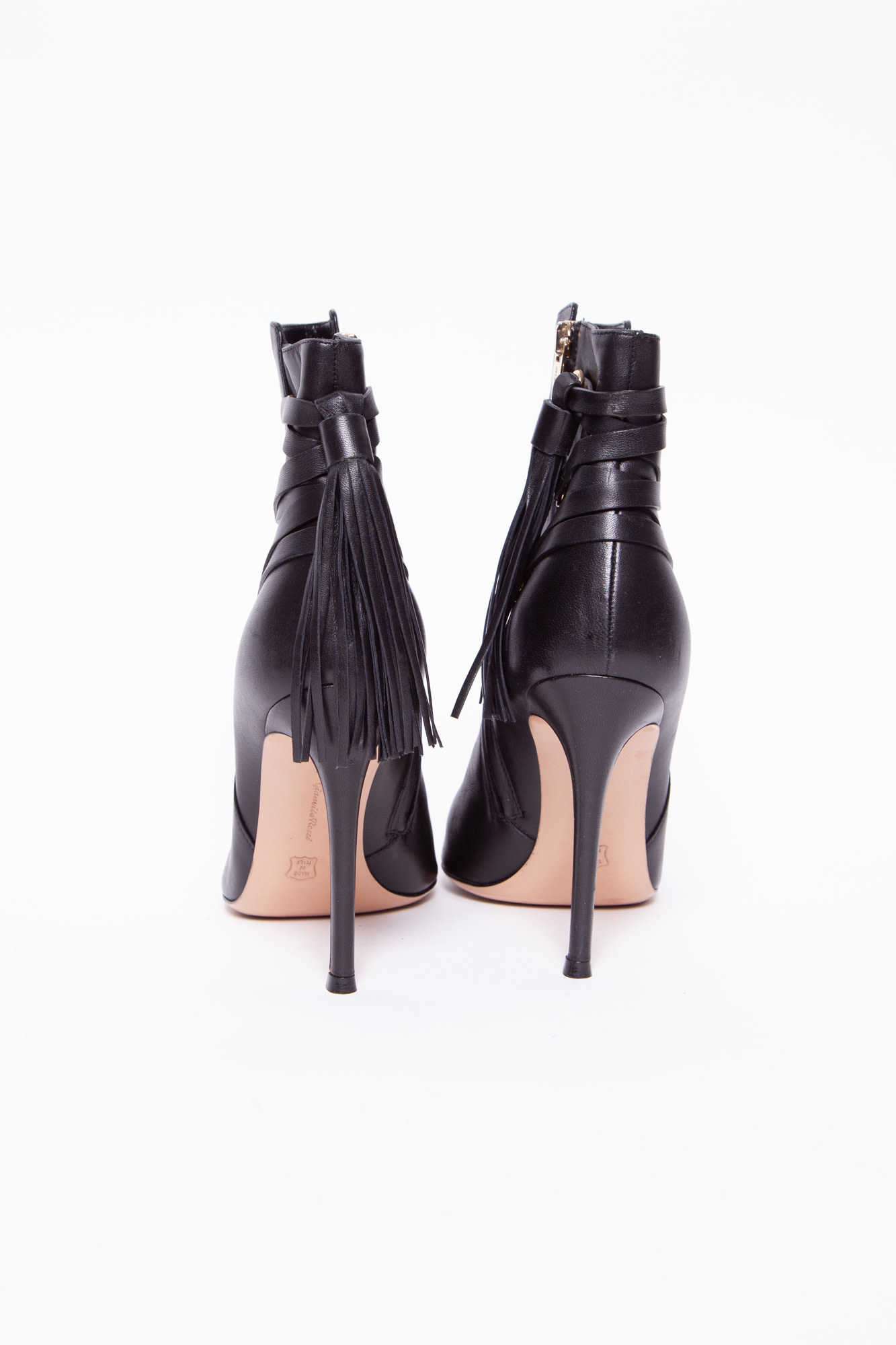 Gianvito Rossi BLACK FRINGES BOOTS