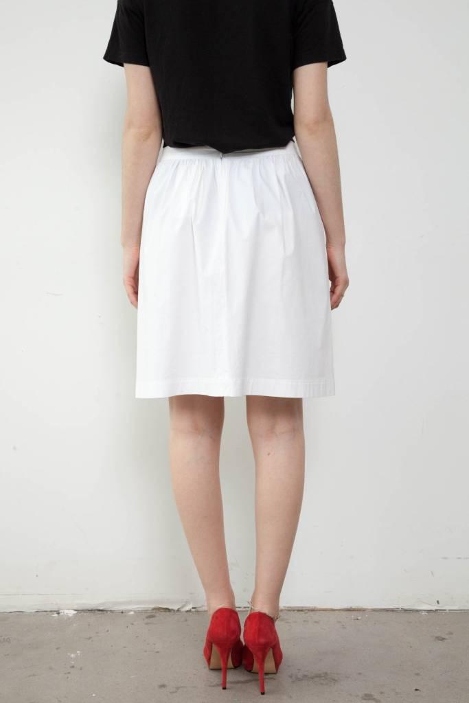 Theory White Skirt