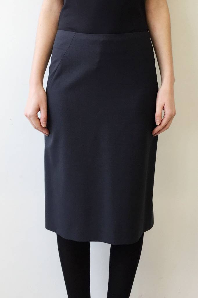 Theory Classic Blue-Gray Wool Skirt