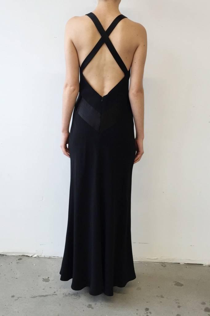 bf61a1d3ee5 Robe noire longue à dos nu - ABS by Allen Schwartz - Deuxième édition