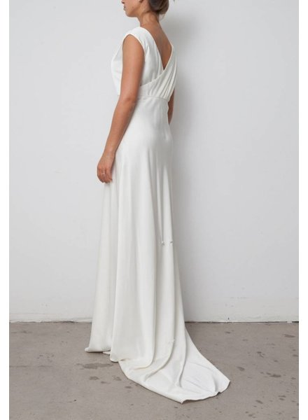 J.Crew OFF-WHITE SILK WEDDING DRESS