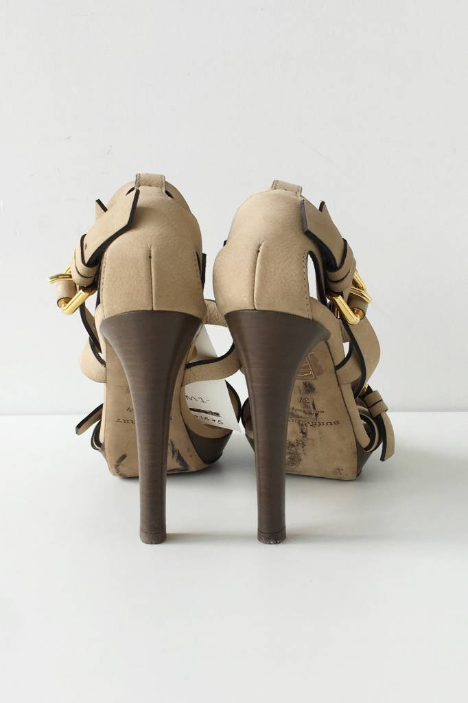 Burberry Beige Leather Sandals