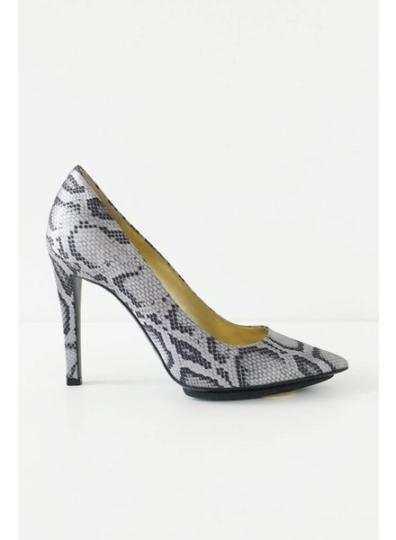 Stella McCartney SOLDE - ESCARPINS EN SATIN IMPRIMÉ SERPENT