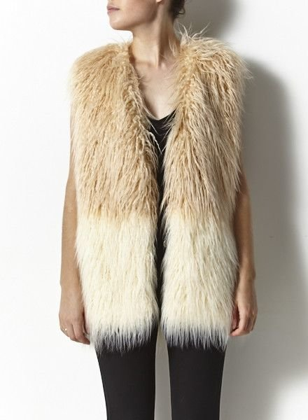 Heartloom SALE - FAUX FUR SLEEVELESS JACKET - NEW