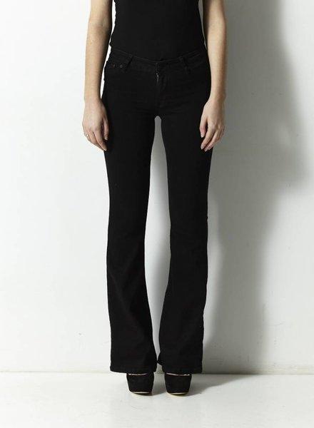 RES Denim BLACK FLARED LEG PANTS