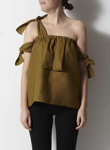 PS The Label SALE - OLIVE THREE LOOPS TOP - NEW