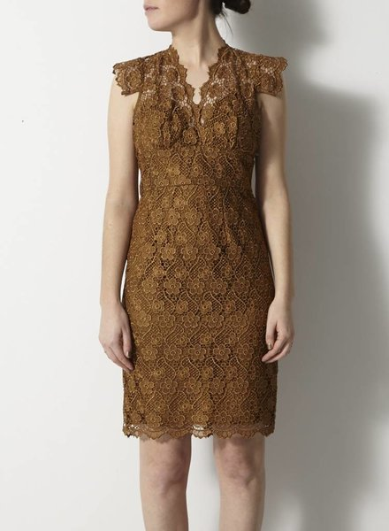 Tracy Reese BRONZE LACE EMBROIDERY DRESS