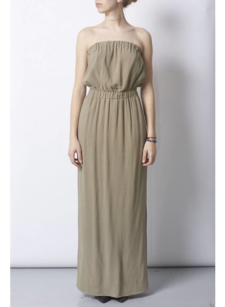 Designers Remix - Charlotte Eskildsen KHAKI LONG DRESS - NEW
