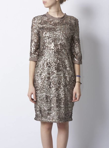 Darling TAUPE SEQUINS DRESS - NEW