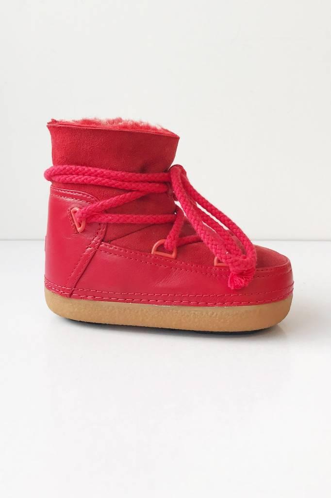 6d25b87d3b279 Bottes rouges en cuir et fourrure pour enfants - Inuikii - Deuxième ...