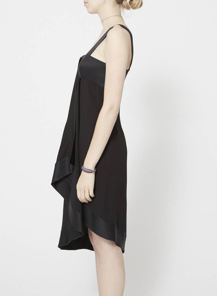 Christian Dior Solde - Robe noire asymétrique en soie