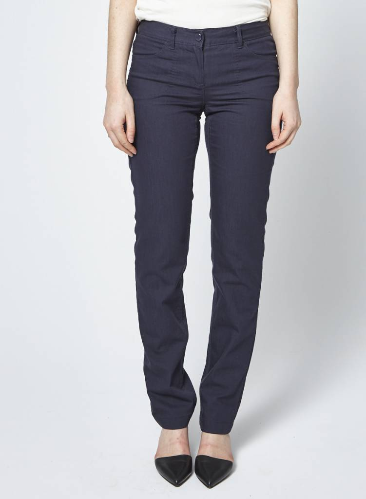Theory Navy Straight Leg Jeans