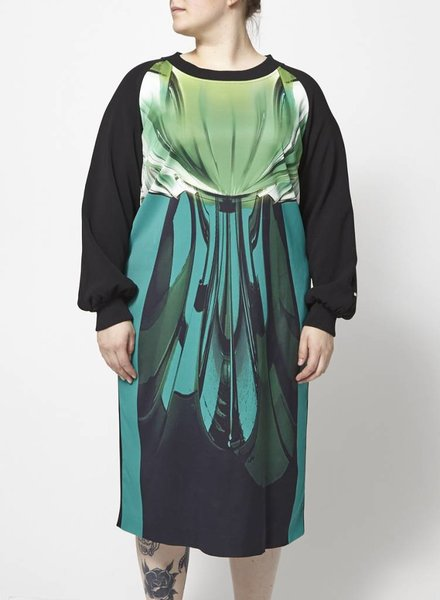 Marina Rinaldi LONG DRESS WITH TROPICAL PRINT