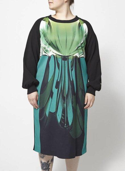 Marina Rinaldi LONG DRESS WITH TROPICAL PRINT