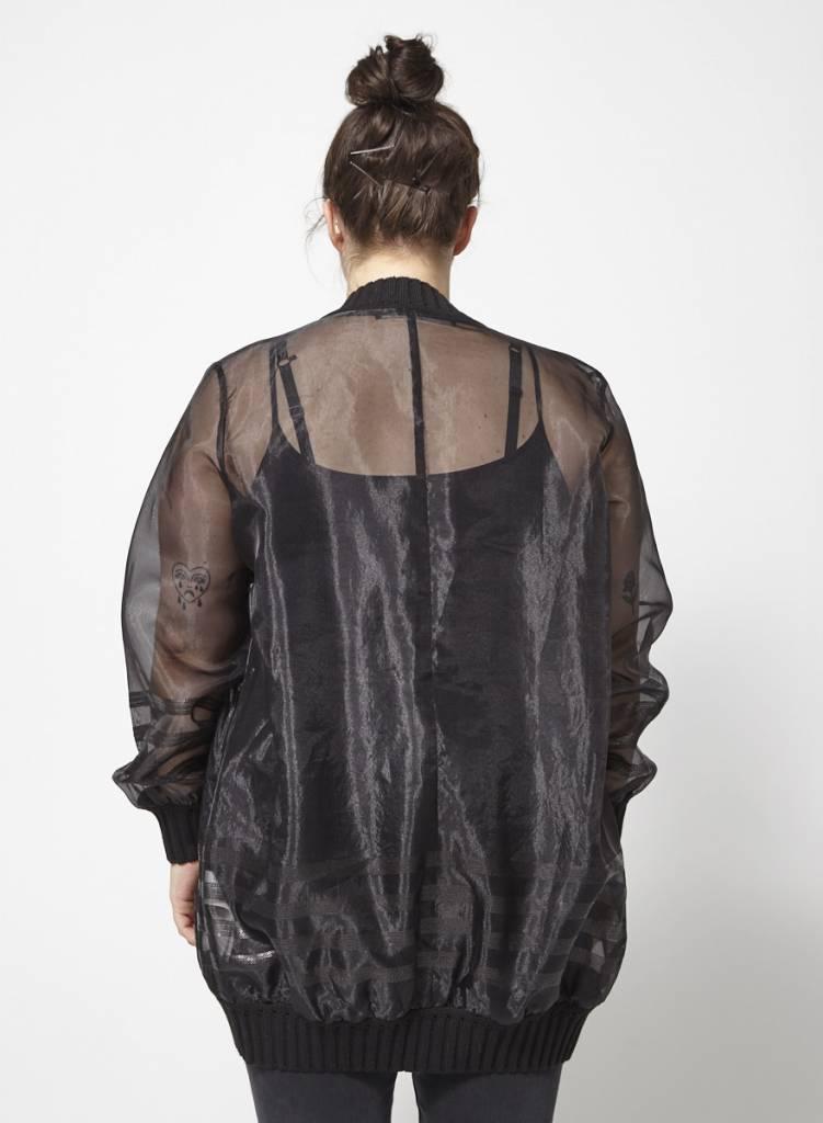 Marina Rinaldi SOLDE - Manteau noir diaphane style bummer - Neuf