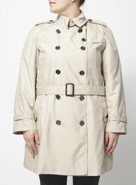 Burberry SALE - BEIGE TRENCH COAT WITH WOOL AND CASHMERE LINING