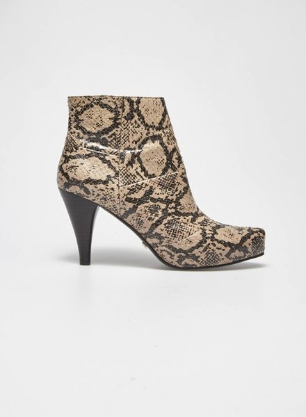Designer inconnu SALE (WAS 145$) - SNAKE LEATHER BOOTIES