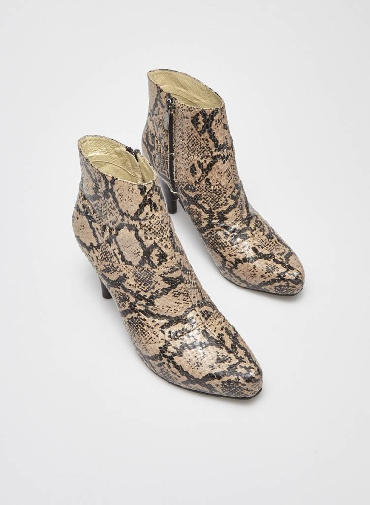 Designer inconnu Snake Leather Booties