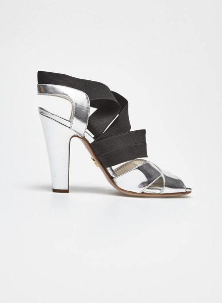 Prada SALE (WAS $240$) - SILVER LEATHER SANDALS