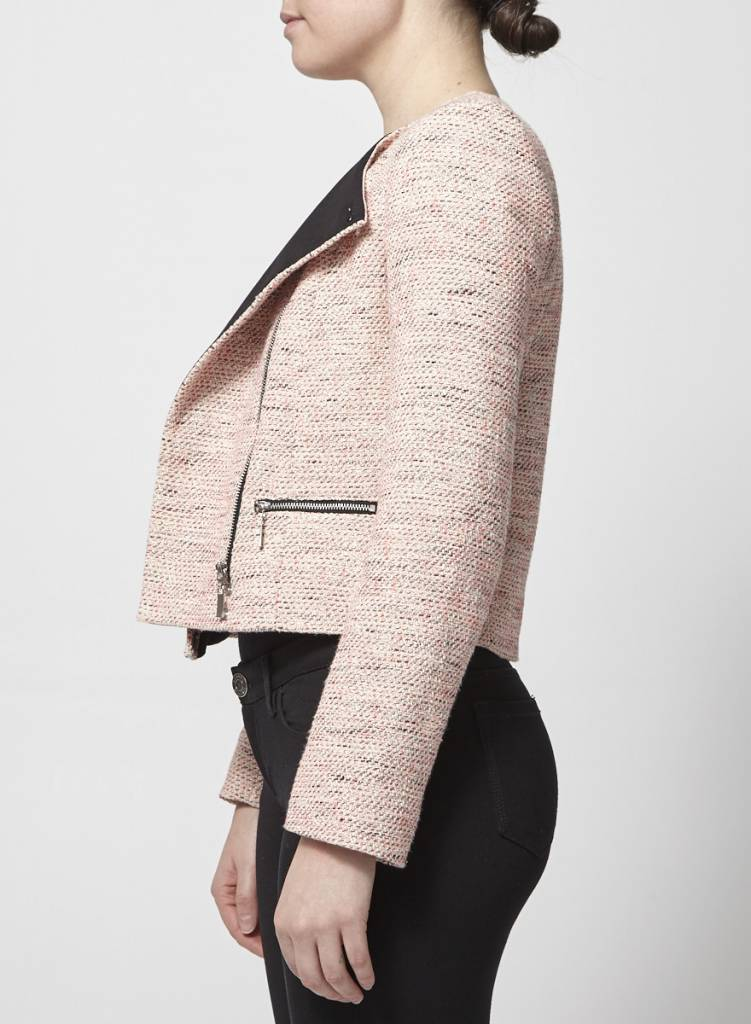French Connection Manteau chiné rose fluo