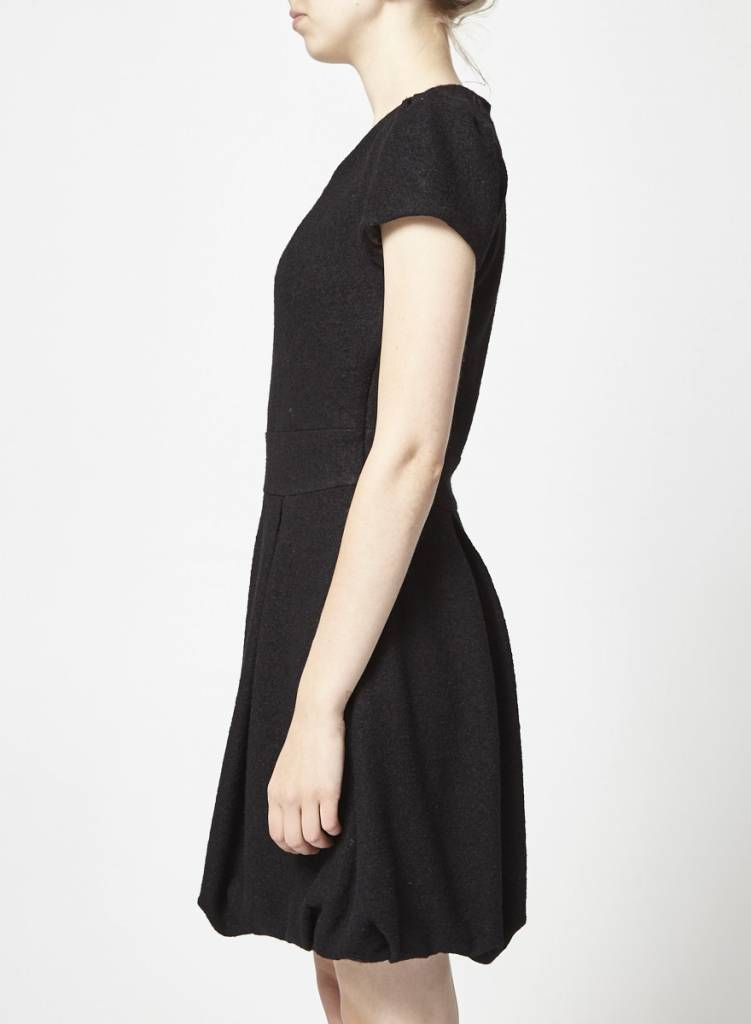Jude Short Sleeves Black Dress