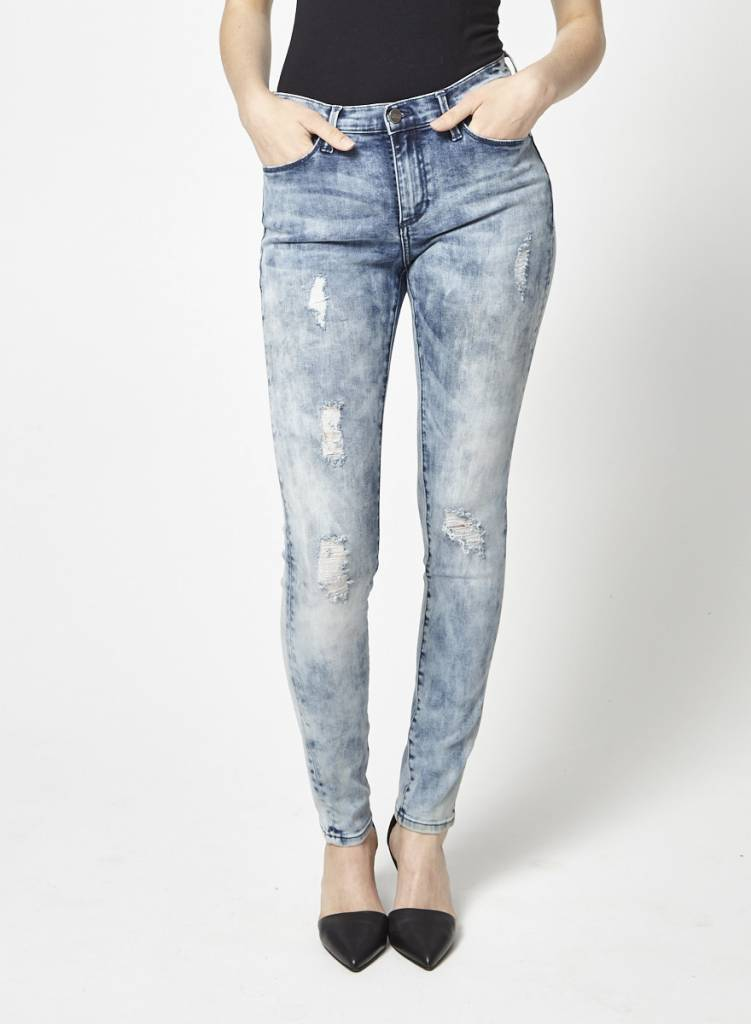 Buffalo David Bitton Skinny Blue Washed Jeans