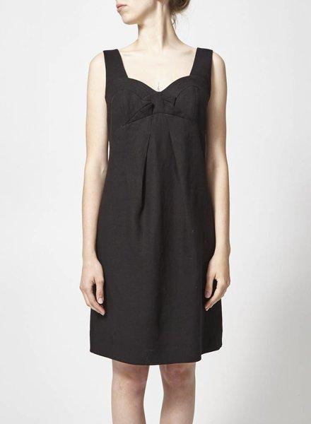 Teenflo LINEN BLACK DRESS