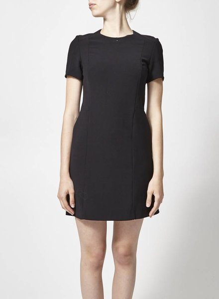 Judith & Charles BLACK STRUCTURED DRESS