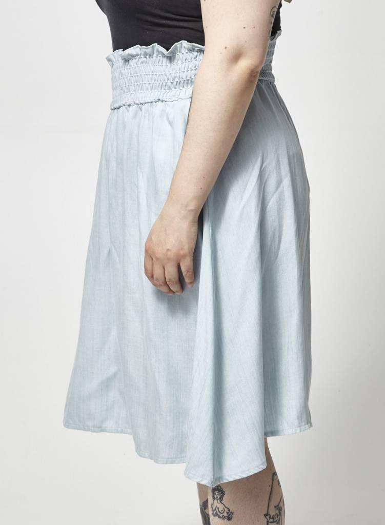 Atelier B Elastic Waist Chambray Skirt