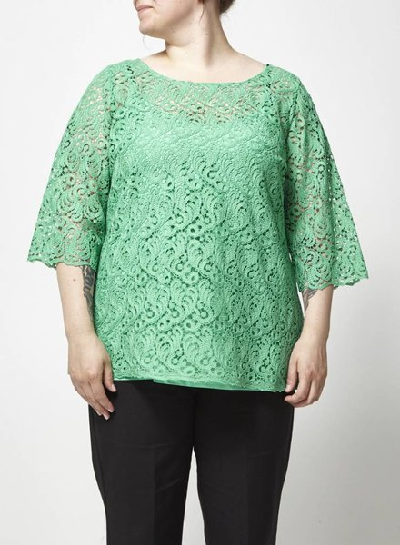 Marina Rinaldi GREEN LACE TOP