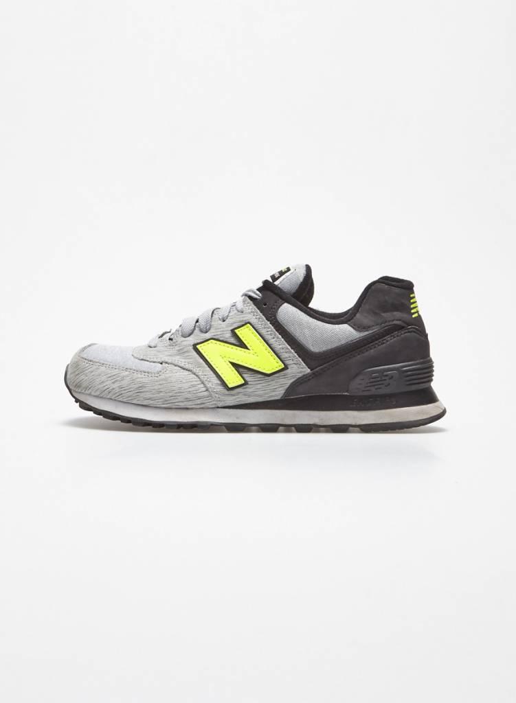 New Balance Espadrilles grises logo néon