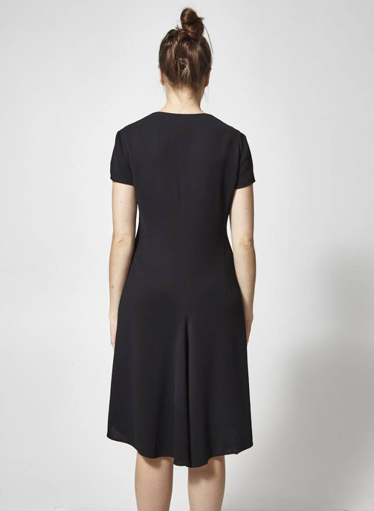 Armani Collection Black dress with zipper at the front