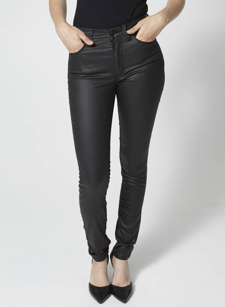 RES Denim Black Glossy Skinny Jeans - New