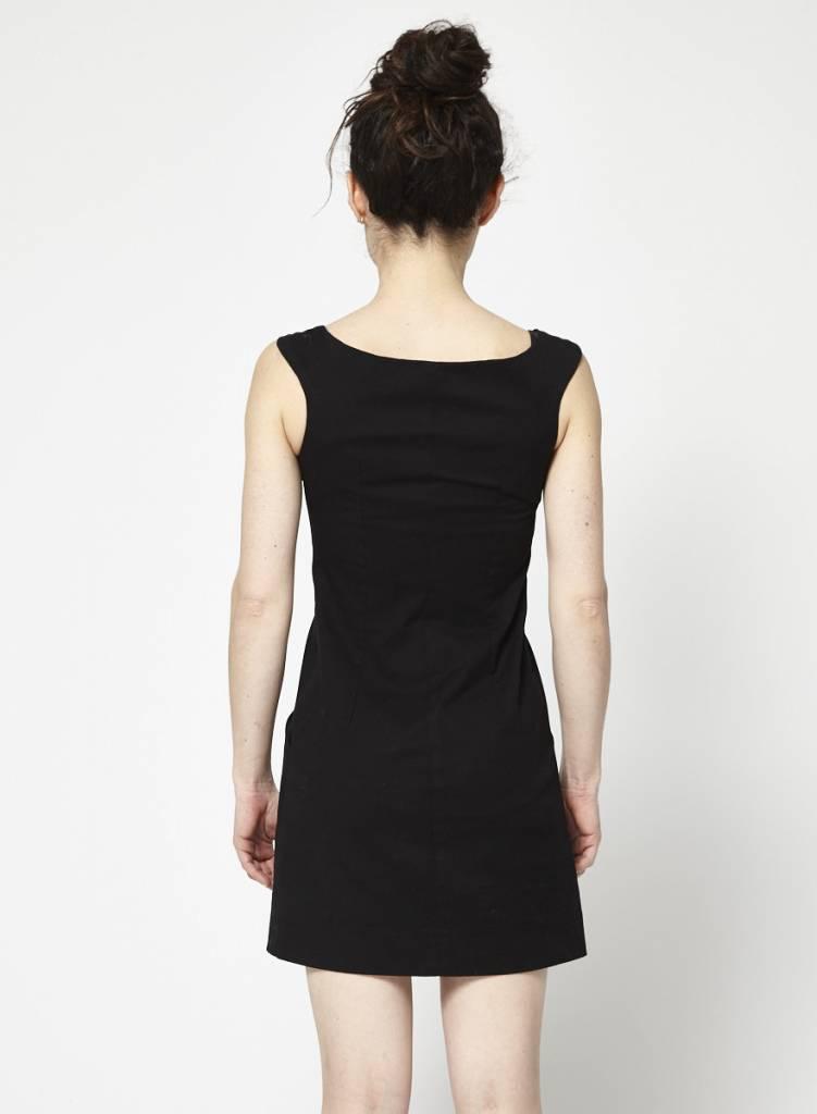 Betina Lou Black Boat Neck Dress